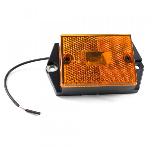 rectangular single bulb clearance light reflector yellow