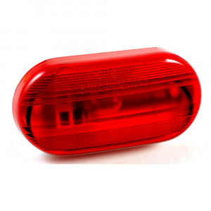 single bulb oval clearance marker light optic red