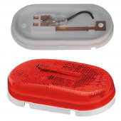 single bulb oval clearance marker light reflector red