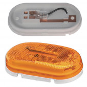 single bulb oval clearance marker light reflector yellow Miniaturbild