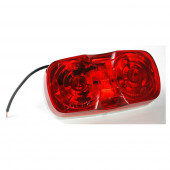 two bulb square corner clearance marker light die cast red