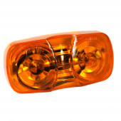 two bulb square corner clearance marker light amber duramold