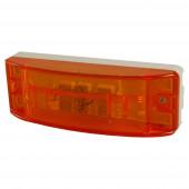 Sealed Turtleback® II Clearance/Marker Lamp, Optic Lens, Yellow