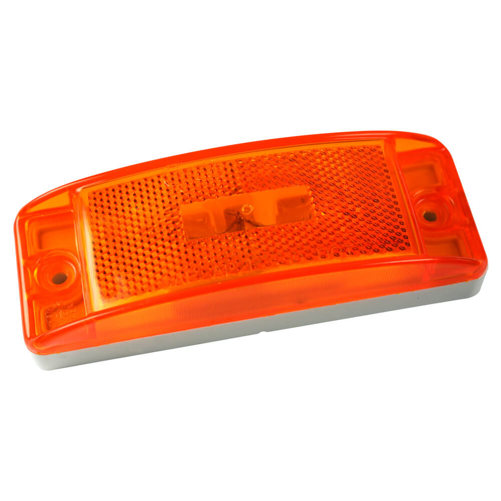 Sealed Turtleback® II Clearance/Marker Light, Built-In Reflector, Yellow