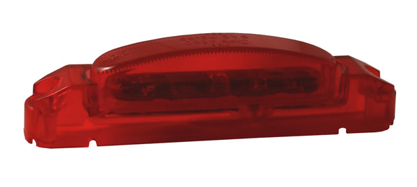supernova thin line led clearance marker light red body