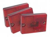 rectangular submersible clearance marker light reflector bulk red
