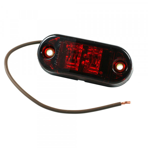 2 1/2 oval led clearance marker light red