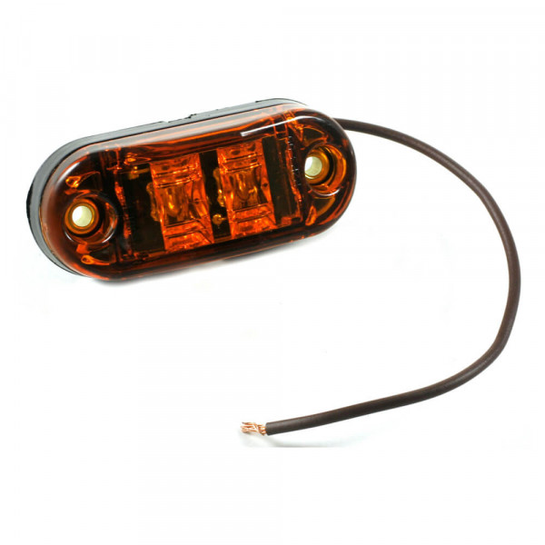 yellow 2 1/2 oval led clearance marker light