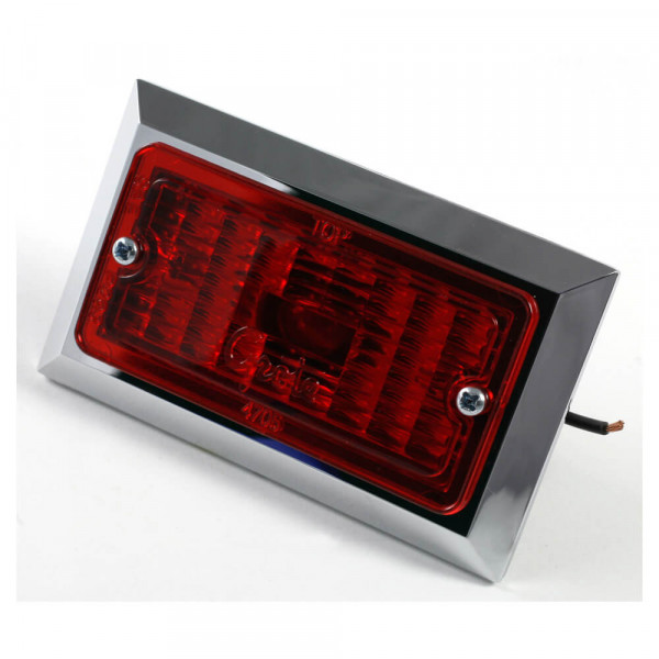 rectangular clearance marker light red