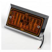 rectangular clearance marker light amber