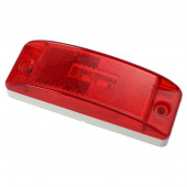 supernova sealed turtleback ii led clearance marker light reflector male red
