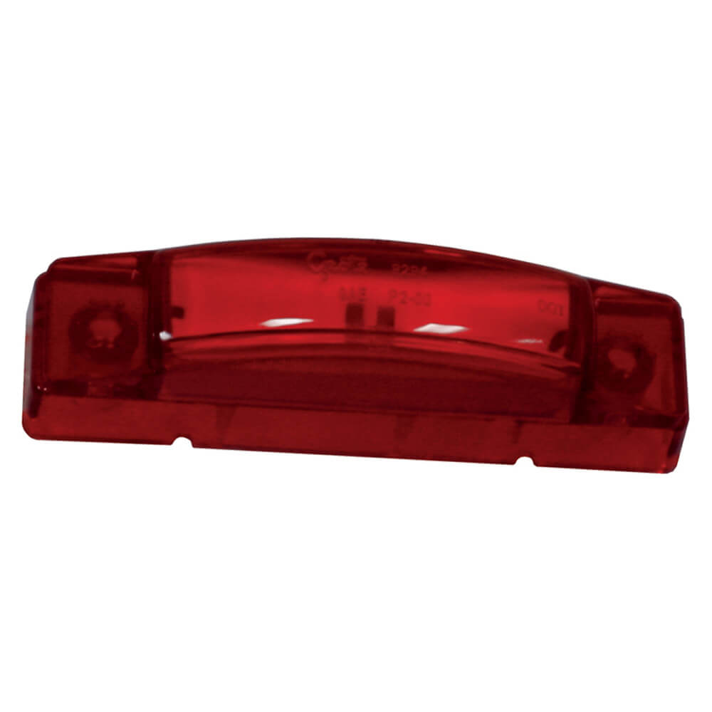supernova thin line led clearance marker light red