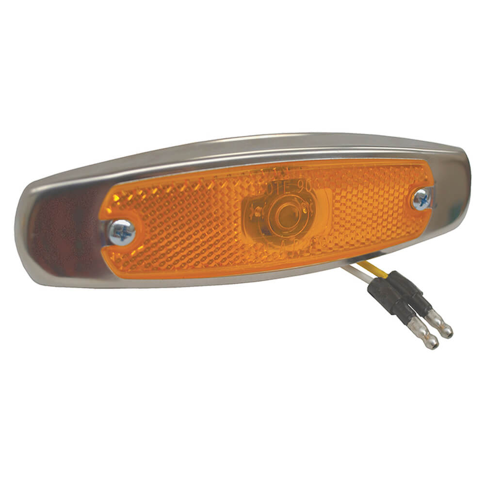 supernova low profile led clearance marker light yellow bezel