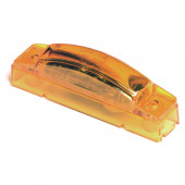 supernova thin line led clearance marker light 24v yellow