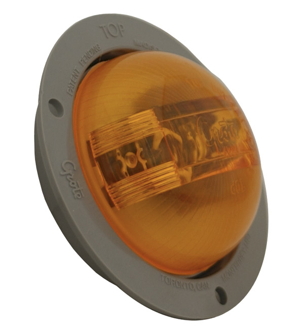 super nova 2 half pc led marker light gray flange