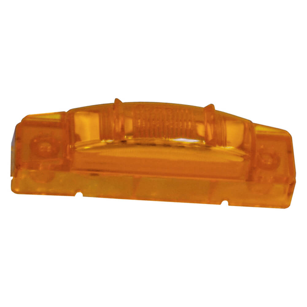 supernova thin line led clearance marker light pc yellow