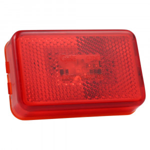 supernova led clearance marker light reflector red