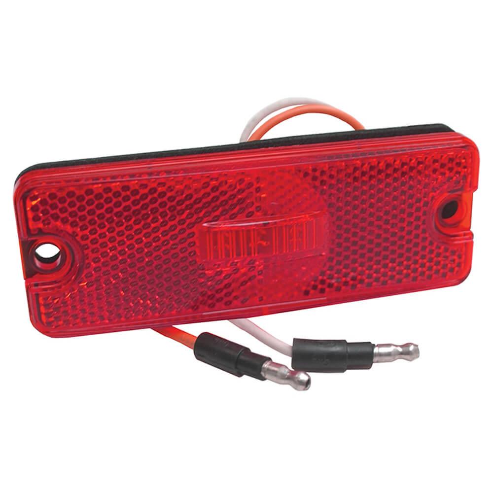 Sealed Rectangular LED Clearance Marker Light, Red