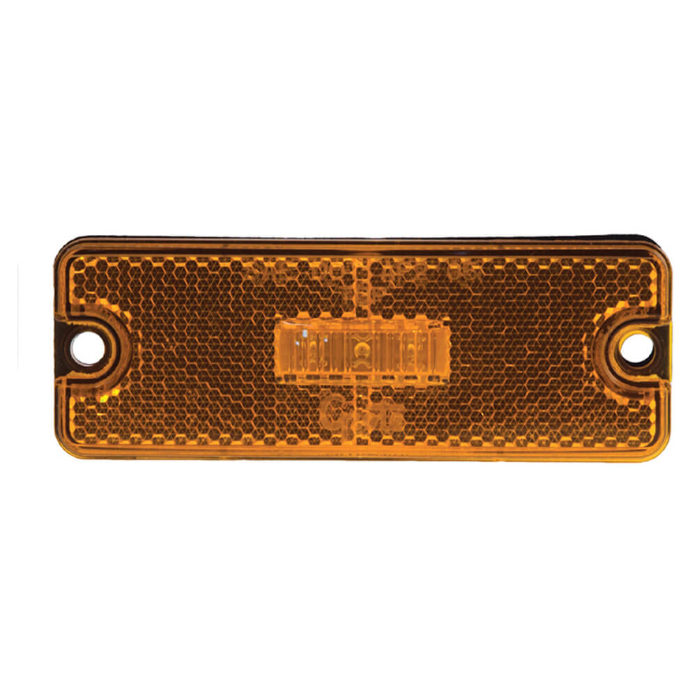 Luz LED de gálibo/marcadora rectangular, sellada, Amarillo