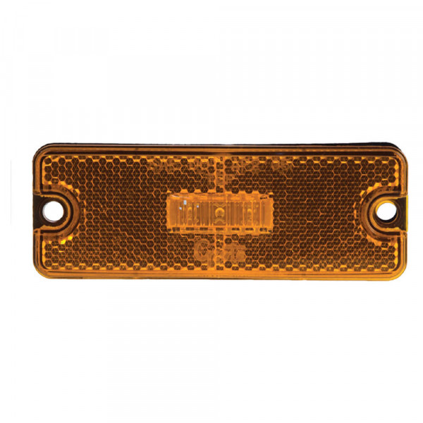 Sealed Rectangular LED Clearance Marker Light, Amber
