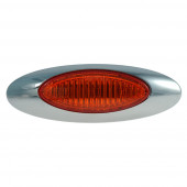 Red LED Clearance Marker Light with .180 Molded Bullet thumbnail