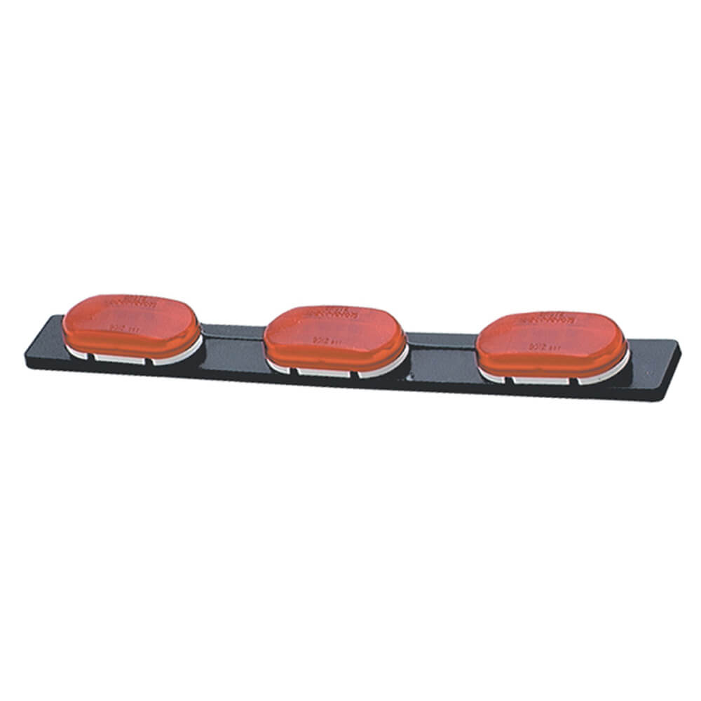 low profile bar light oval style red