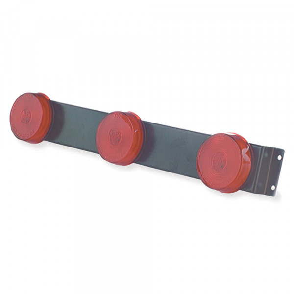 low profile bar light 4581 round series red