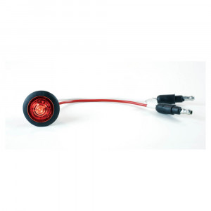 Micronova Dot Red LED Clearance Marker Light With Grommet.