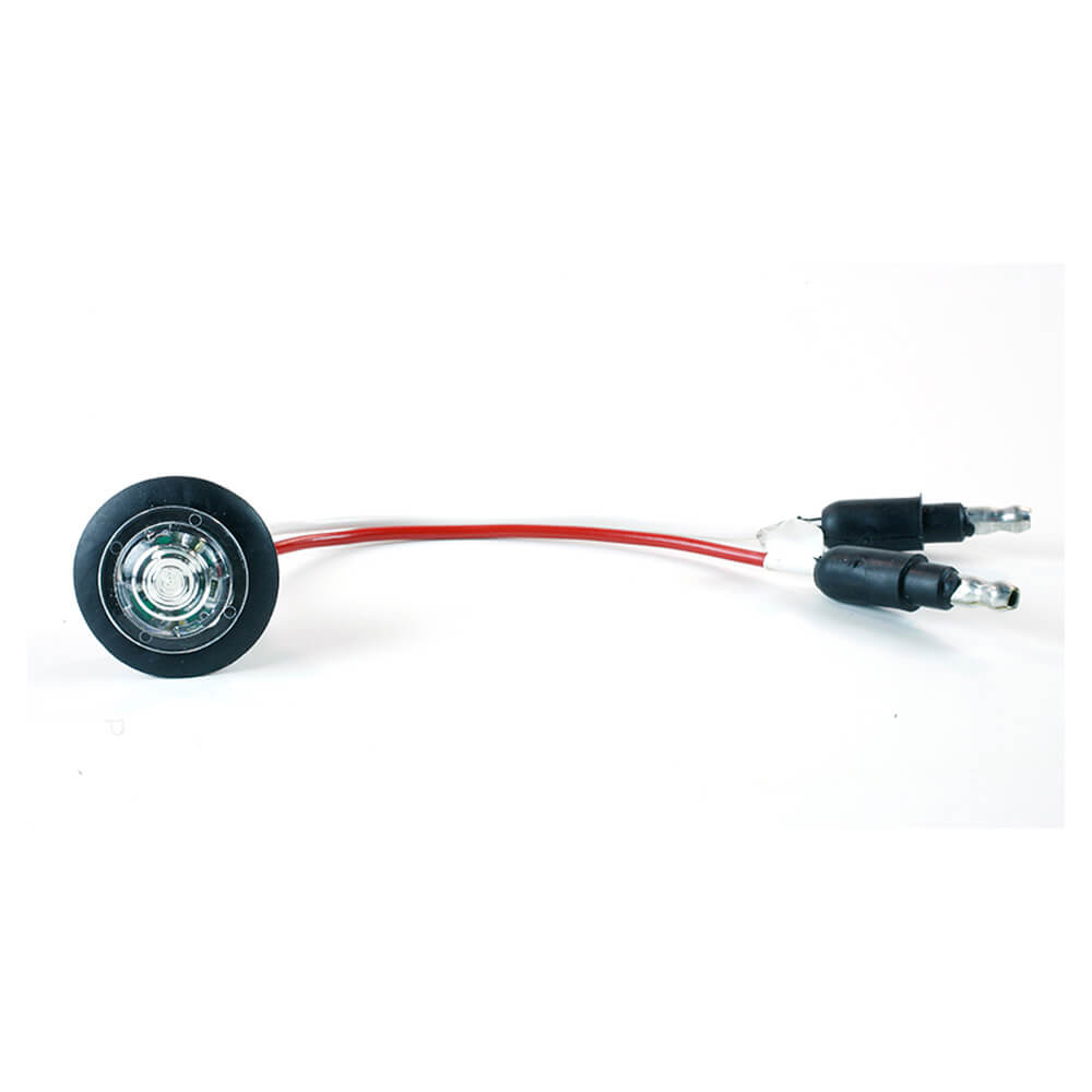 MicroNova® Dot White LED Clearance Marker Light With Grommet.