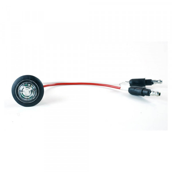 MicroNova® Dot White LED Clearance Marker Light With Grommet.
