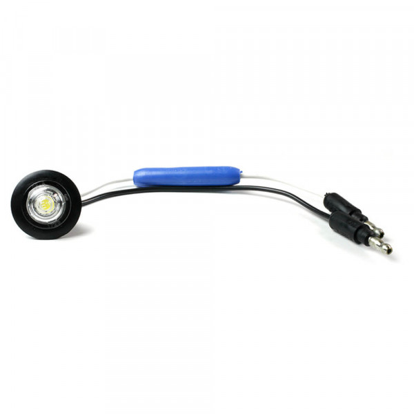 MicroNova® Dot White 24 Volt LED Clearance Marker Light With Grommet.