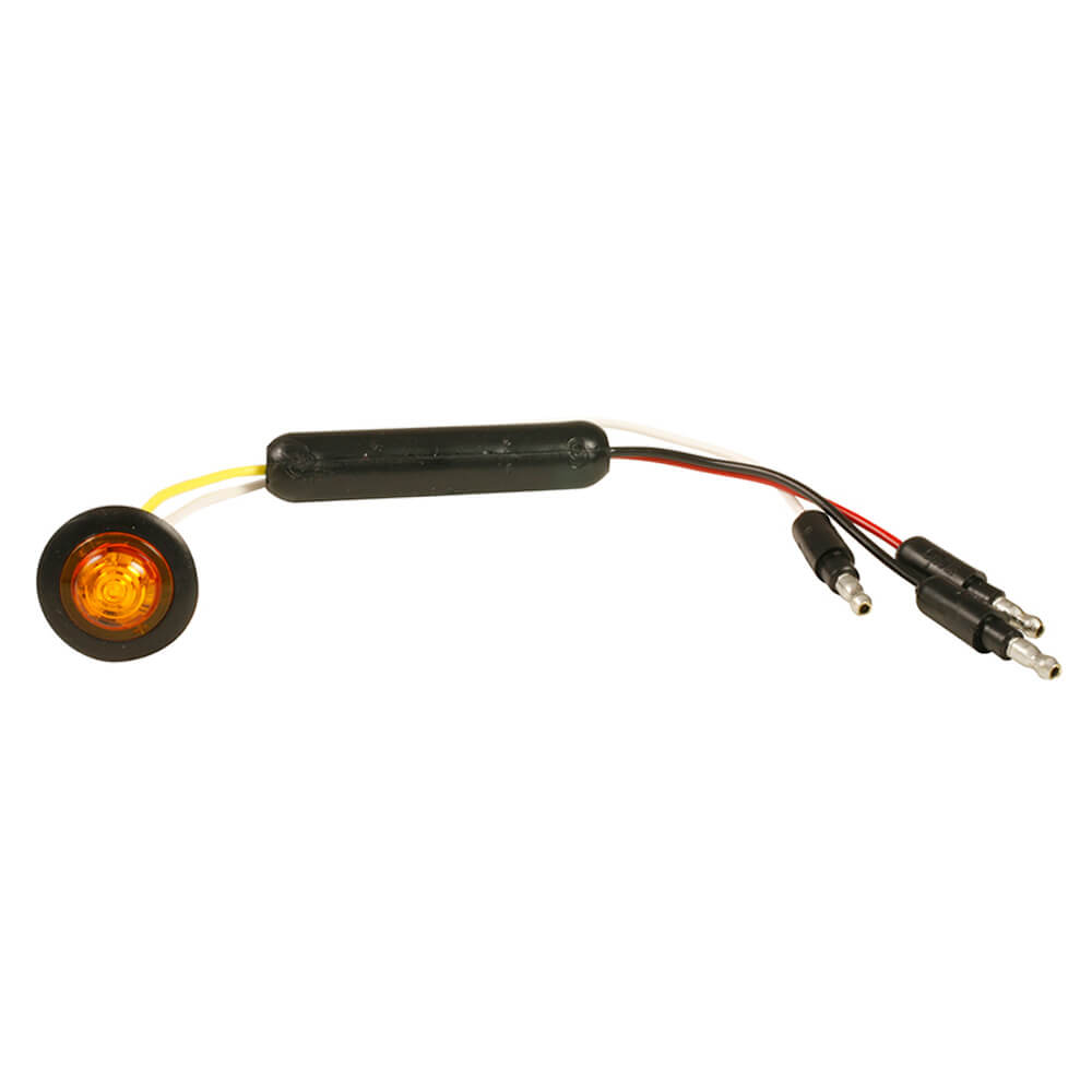Yellow LED Slim Line Clearance Marker Light With Grommet.