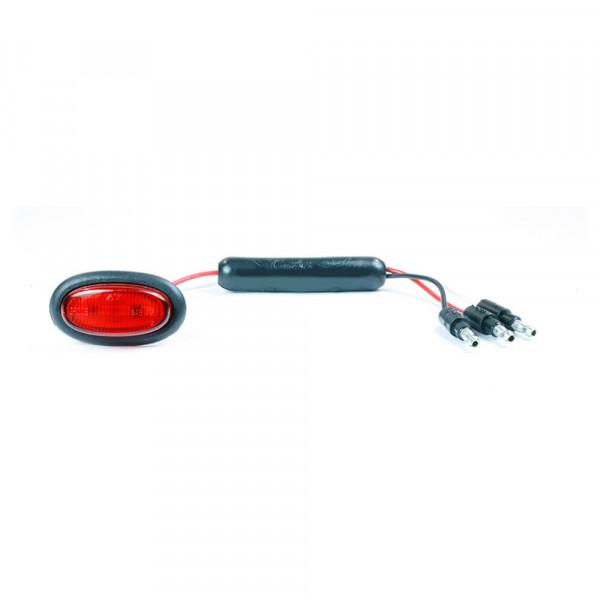 dual intensity micronova led clearance marker light red standard