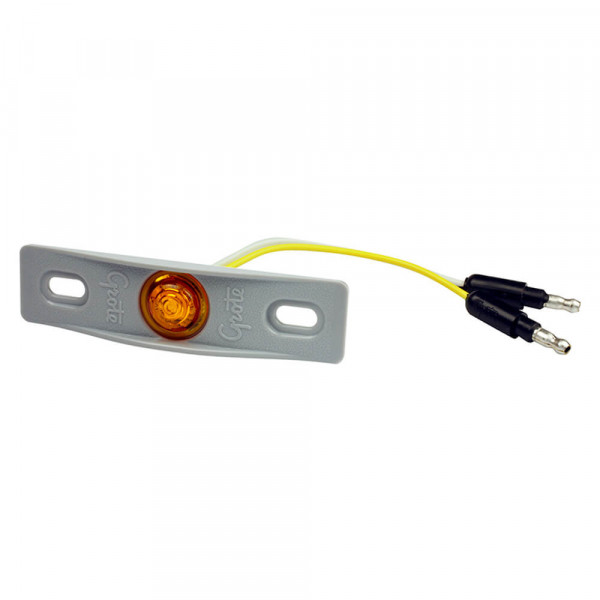 MicroNova® Dot Yellow LED Clearance Marker Light With Gray Adapter Bracket.