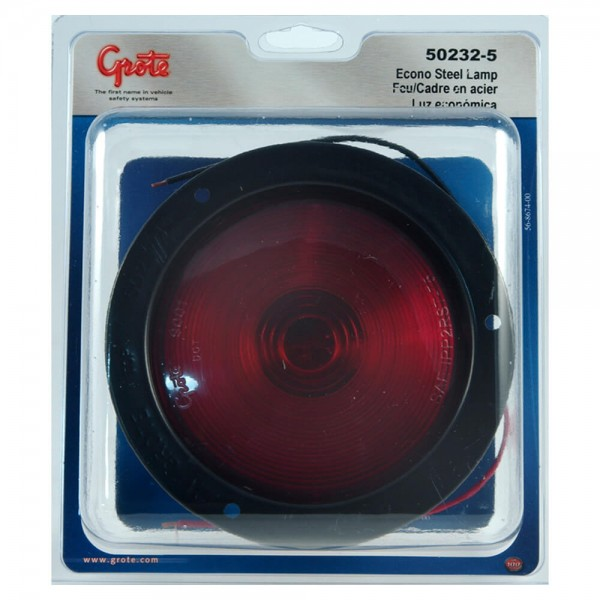 economy stainless steel light double contact red retail pack