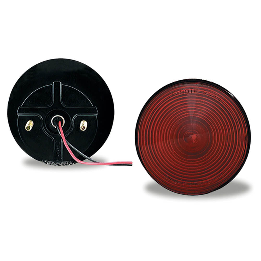 4 two stud stop tail turn light with out window red