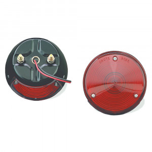 4 steel two stud mount stop tail turn light license window red