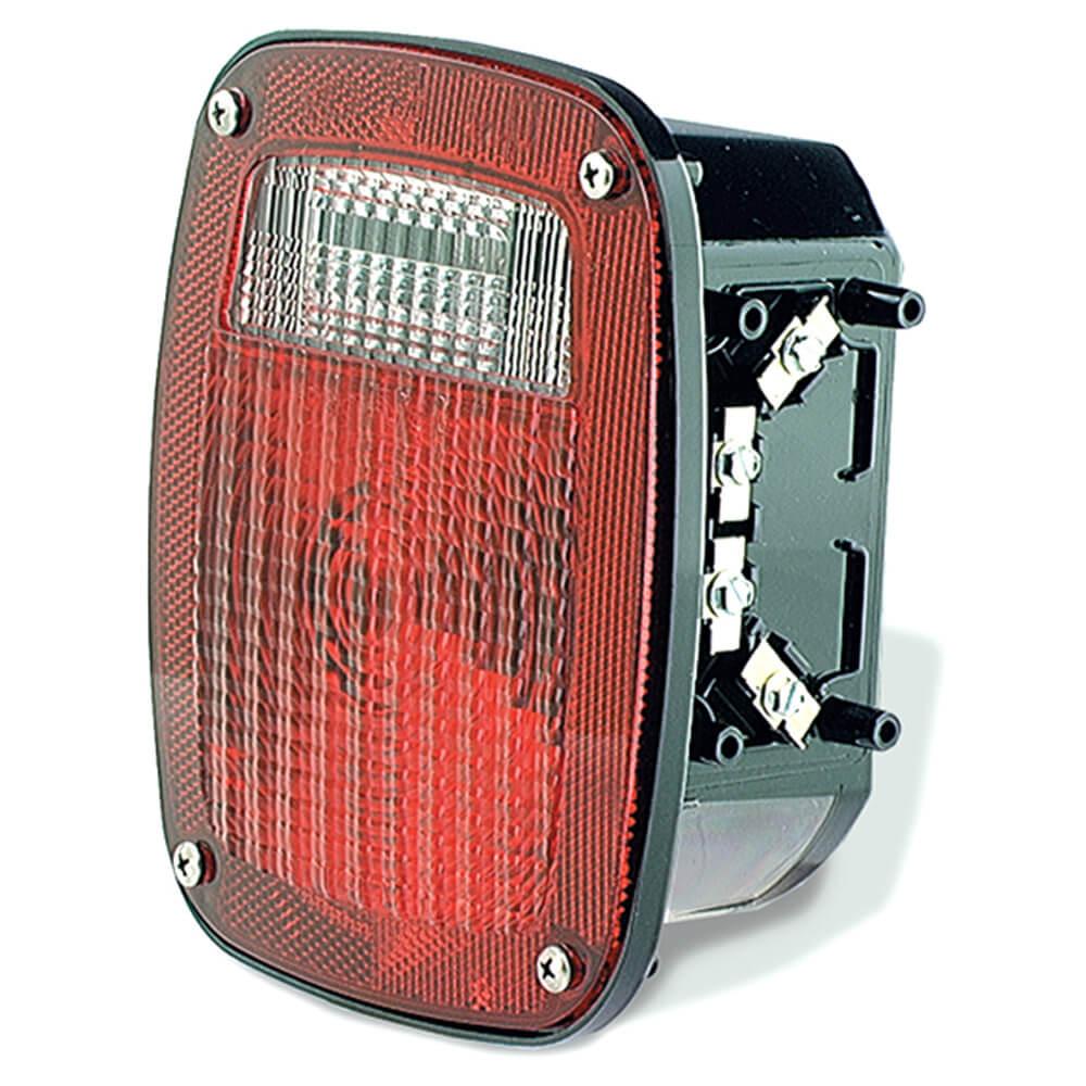 luz de frenado / trasera / direccionaltorsion mount con tres varillas roscadas, para gmc, ventana para matrícula a mano derecha