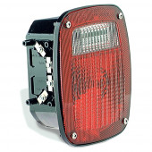 torsion mount three stud gmc stop tail turn light lh license window red