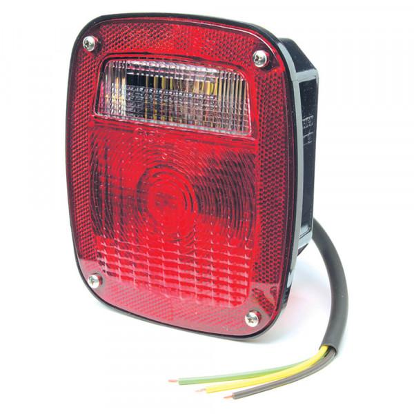 Luz de frenado/trasera/direccional para Peterbilt®, Chevrolet®, Jeep® y GMC® con luz de reversa incorporada, tres varillas roscadas, Rojo