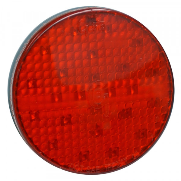 Luz LED de frenado/trasera/direccional con diseño completo SuperNova®, 4″, Montaje con aro protector, 24 V, Rojo