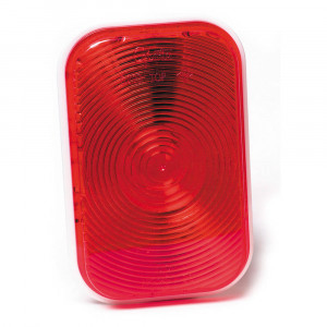 rectangular stop tail turn light double contact red