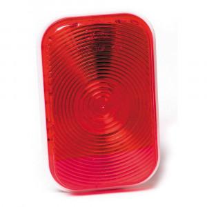 luz de frenado / trasera / direccional rectangular, contacto doble, rojo