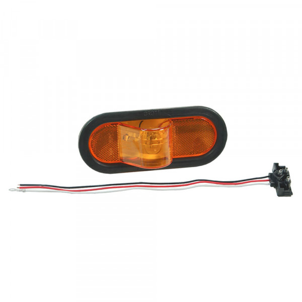 economy oval side turn marker light amber kit