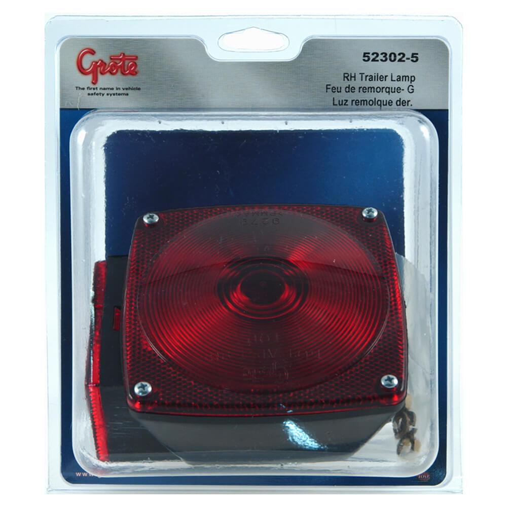 trousse de feux arrêt/arrière/clignotant rh de remplacement d'éclairage pour remorque