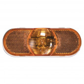 torsion mount III oval side turn marker light female pin amber