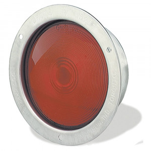 economy stainless steel light double contact red