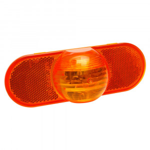 torsion mount III oval side turn marker light male yellow