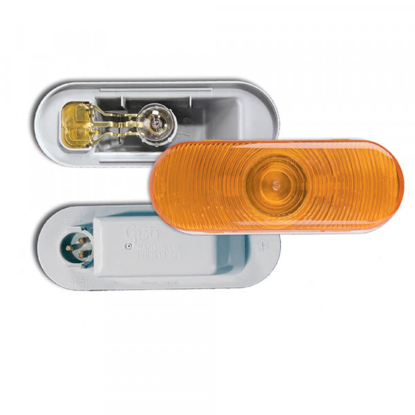 trosion mount III oval stop tail turn light front park amber male