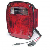 trosion mount two stud stop tail turn light with side marker molded pigtail termination rh red